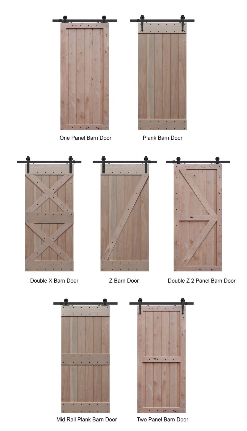 Barn doors barn door track the glass door store for Farm door ideas