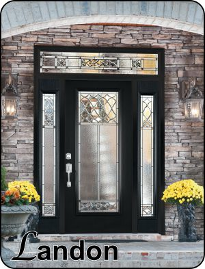Old World Traditional glass door inserts for fiberglass exterior doors