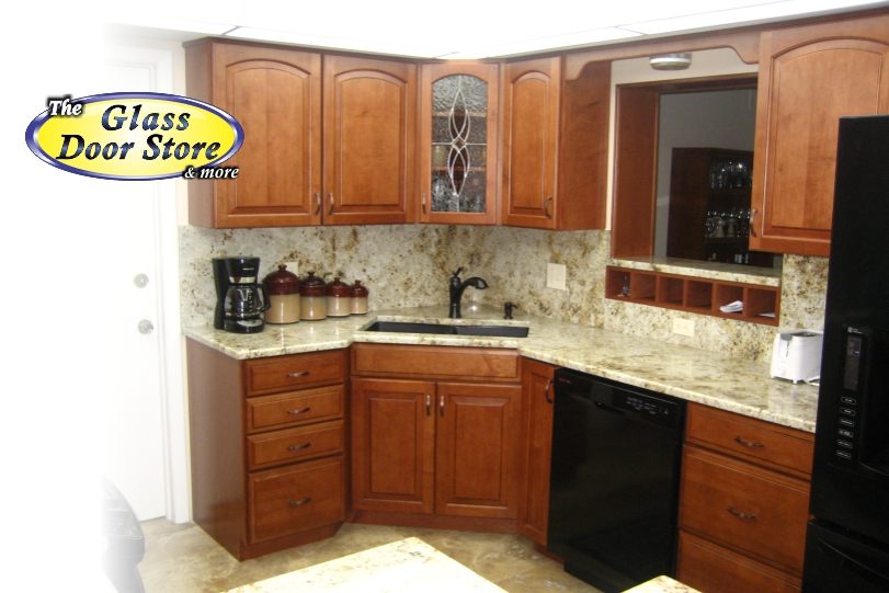 Your kitchen cabinet just got prettier the glass door store for Beveled glass kitchen cabinets