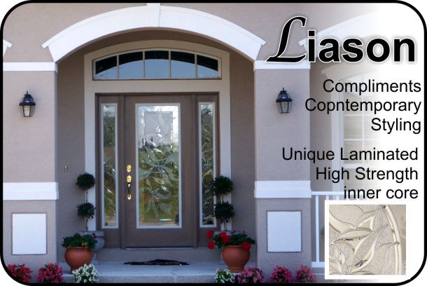 View Larger Image liquid-crystal-laminated-front-door-glass-insert-for- & Liason Laminated Entry Door Glass - The Glass Door Store
