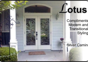 Modern-single-glass-door-insert-with-sidelights-in-fiberglass-door