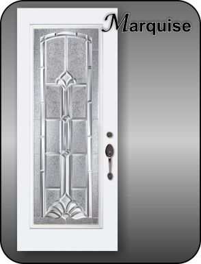 Traditional door inserts in silver or black metal caming