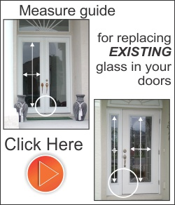 Replace just the glass in the existing fiberglass door