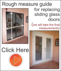 Replace the sliding glass doors with fiberglass exterior french doors