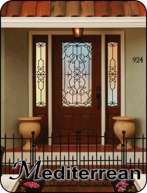 Wrought Iron For Front Entry Door Sealed Between The Glass