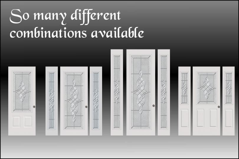 Combinations available for the front entry doors