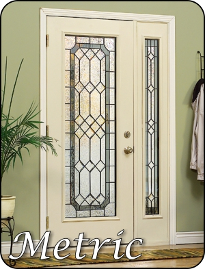 Front entry door glass with high privacy rating