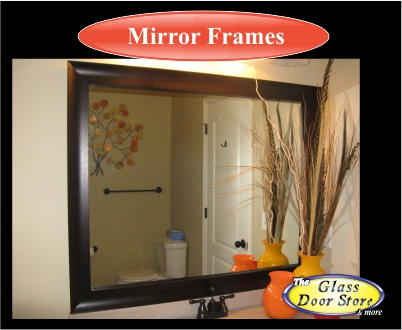 Mirror frame kit for bathroom mirror