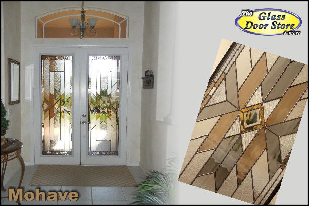 Mohave glass door inserts for nonstandard front doors
