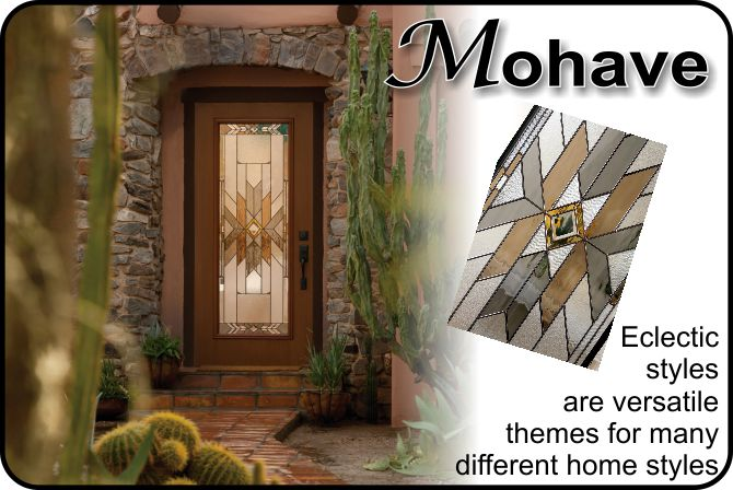 Mohave glass door insert for Plastpro fiberglass doors