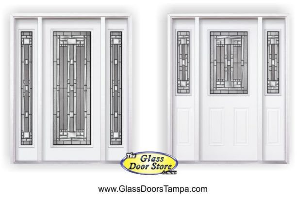 Ordinaire Naples Glass Door Insert In Full And Half