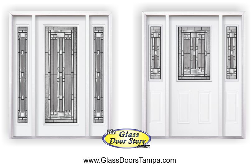 Naples Glass Door Insert In Full And Half Glass Sizes