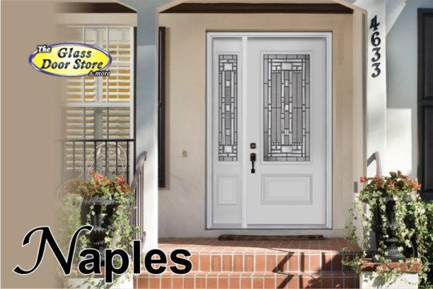 Naples glass door insert with 3 quarters glass