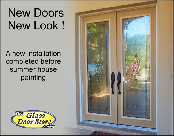 Fiberglass double front doors installed in Tampa home