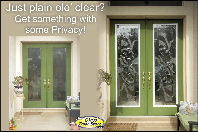 View Larger Image Change the glass in double front doors from clear to  privacy Affordable Exterior Front Entry Door Remodel