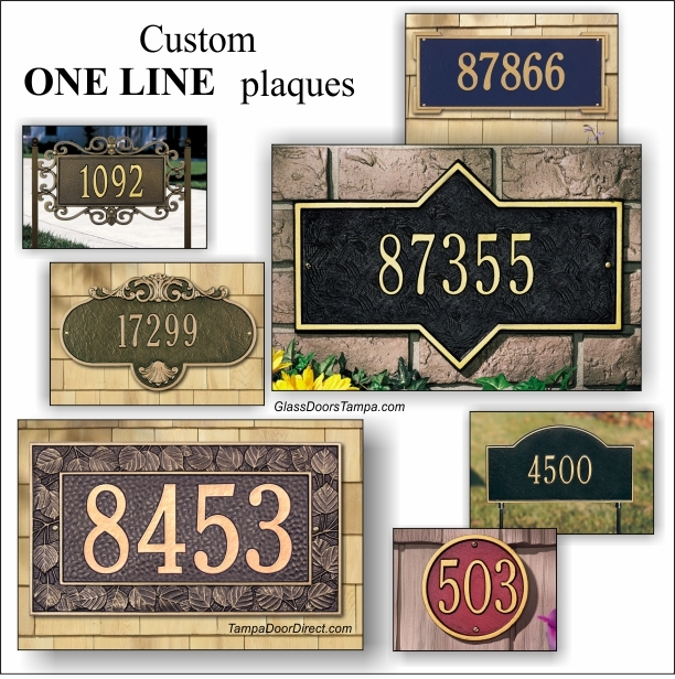 Address plaques custom made