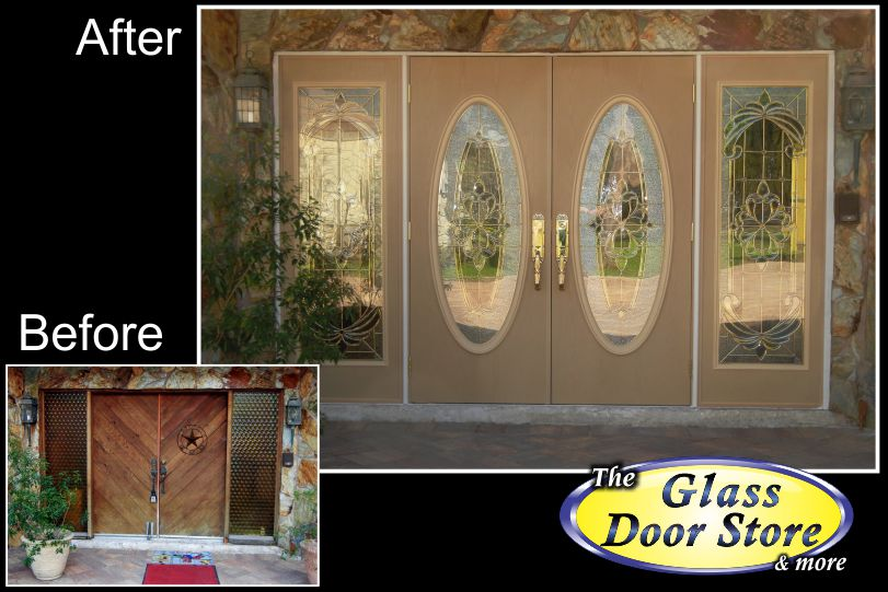 View Larger Image Double Front Doors With Oversized Sidelights Replace Old  Wood Door