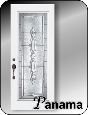 Formal traditional glass door insert for single or double doors