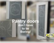 Frosted pantry doors
