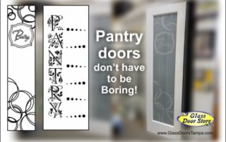 Pantry door with unique designs