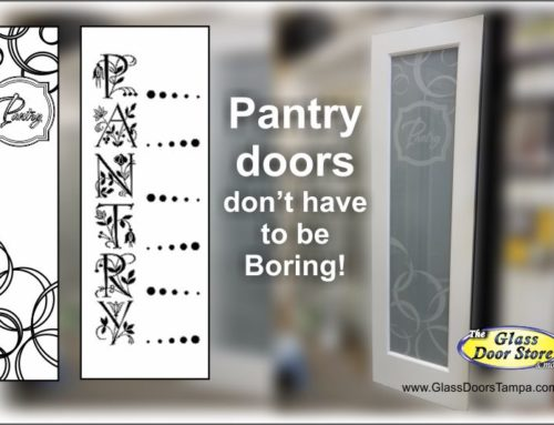 Frosted Glass Pantry Doors Can Be Unique
