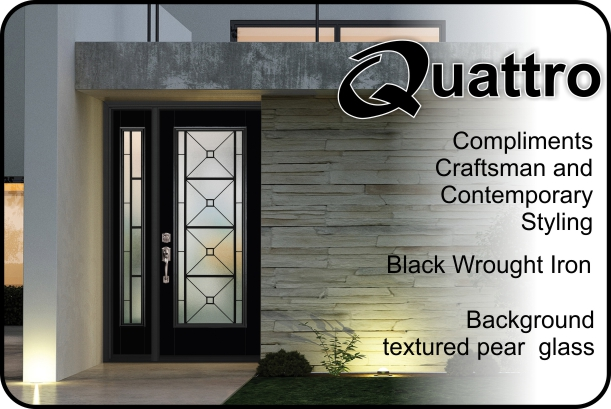 Wrought Iron Glass Insert For Fiberglass Front Entry Doors. Undefined