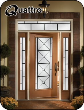 Quattro wrought iron door insert