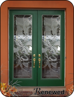 Modern glass front doors