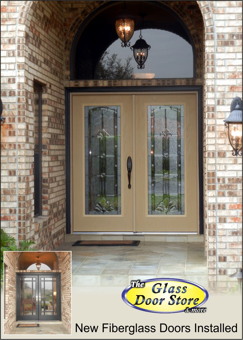 double door installed in front entry