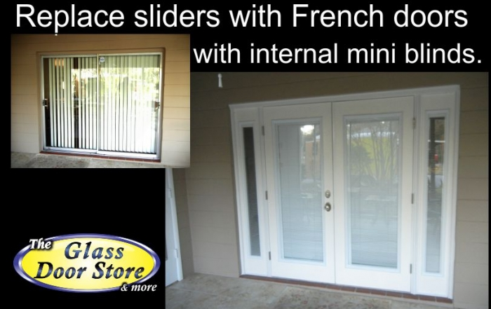 Replace sliding glass door with french doors for Sliding glass door to french door