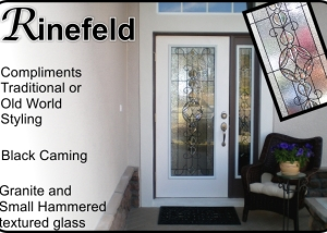 Fiberglass front door with leaded glass