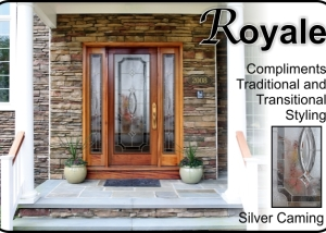 woodgrain fiberglass doors with traditional glass insert