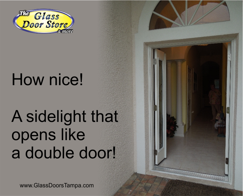 A single front door with a sidelight that opens the glass door store new front door installed like a double door planetlyrics Image collections