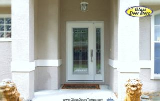 Fiberglass single door with opening side window