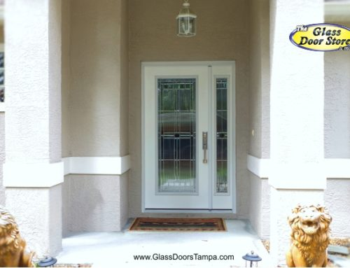 A Single Front Door with a Sidelight that Opens