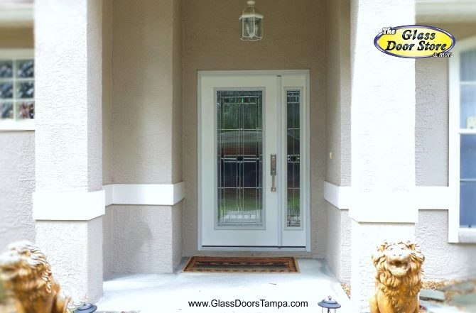 Genial Fiberglass Single Door With Opening Side Window