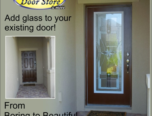 Adding glass to your existing front door adds value and style
