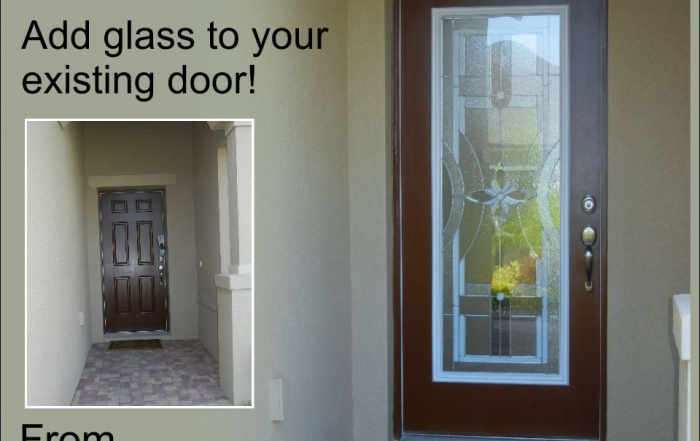 Add glass to the existing single front entry door