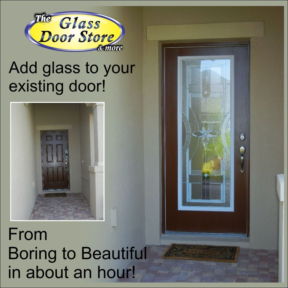 Adding glass to your existing front door adds value and for Single front doors with glass