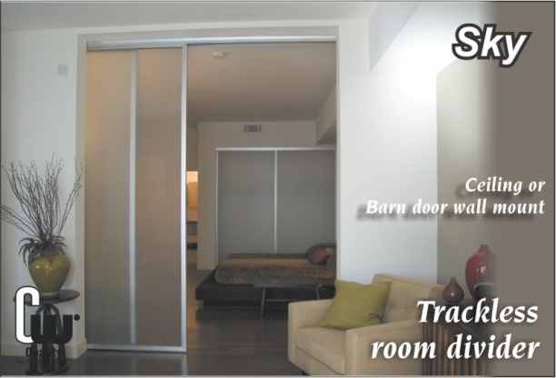 Sky sliding glass room divider doors