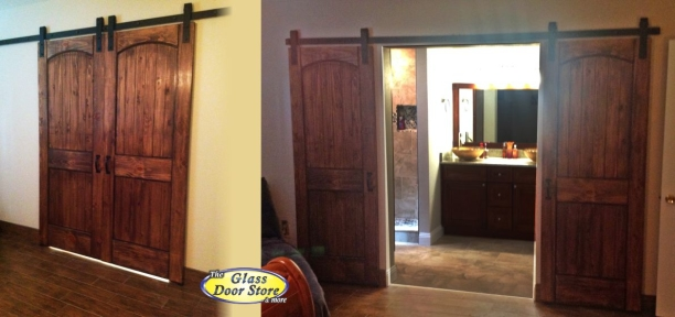 Barn Doors Barn Door Track on craftsman master bathroom designs
