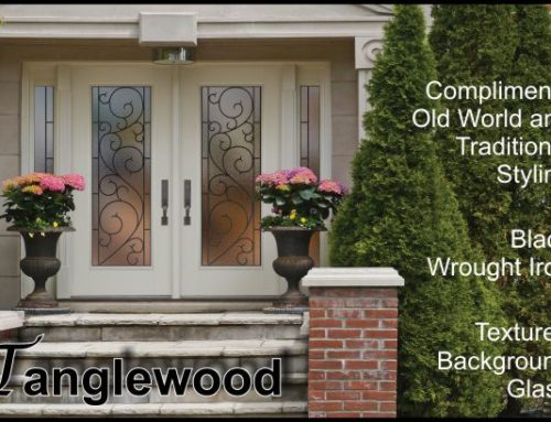 Tanglewood Wrought Iron Glass Door Insert