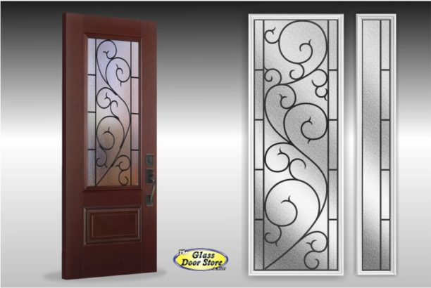 Tanglewood wrought iron entry door insert
