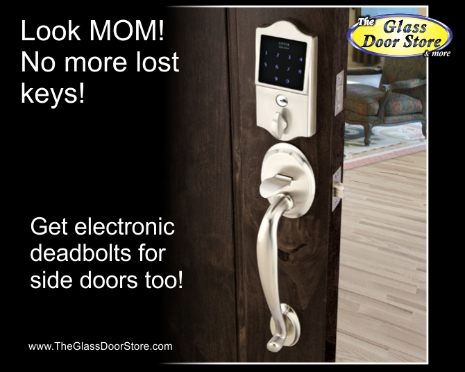 Entrance Door Handle With Electronick Lock Deadbolt For The Front Door
