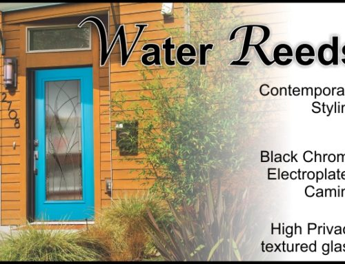 Water Reeds modern glass door