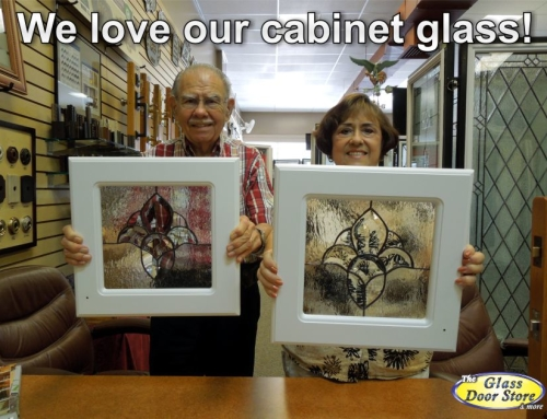 We love our kitchen cabinet glass