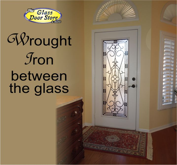 wrought iron in single front door