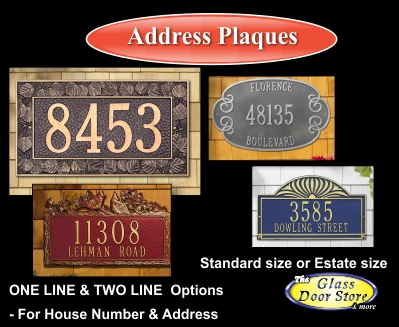 outdoor address plaques