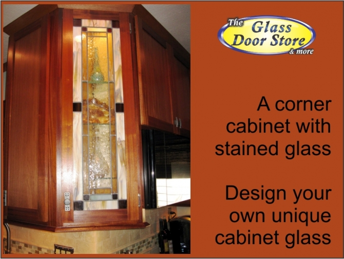 corner kitchen cabinet glass  leaded glass