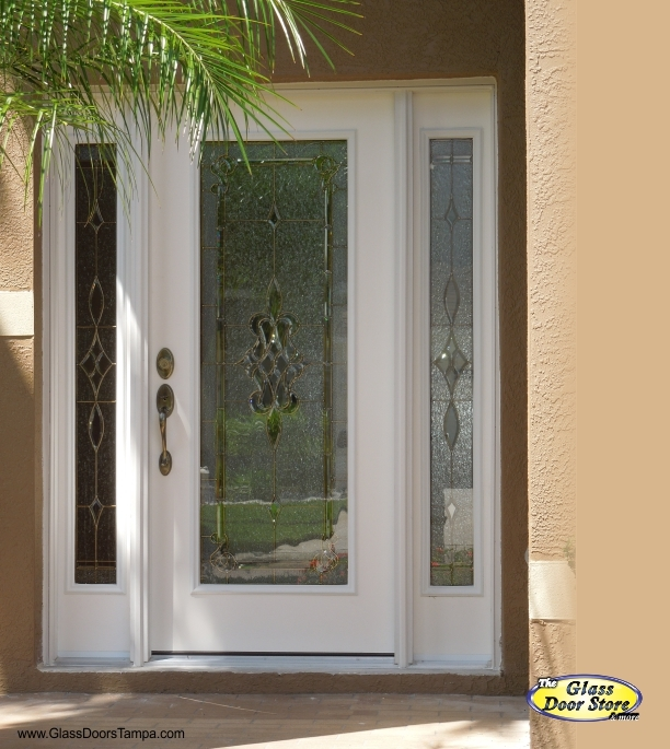 New door installation in Tampa with double sidelights